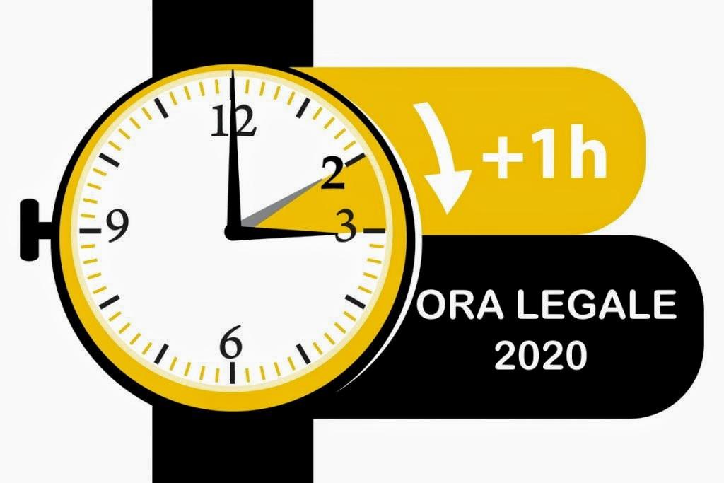 Ora legale 2020 – dalle 02:00 si passerà direttamente alle03:00