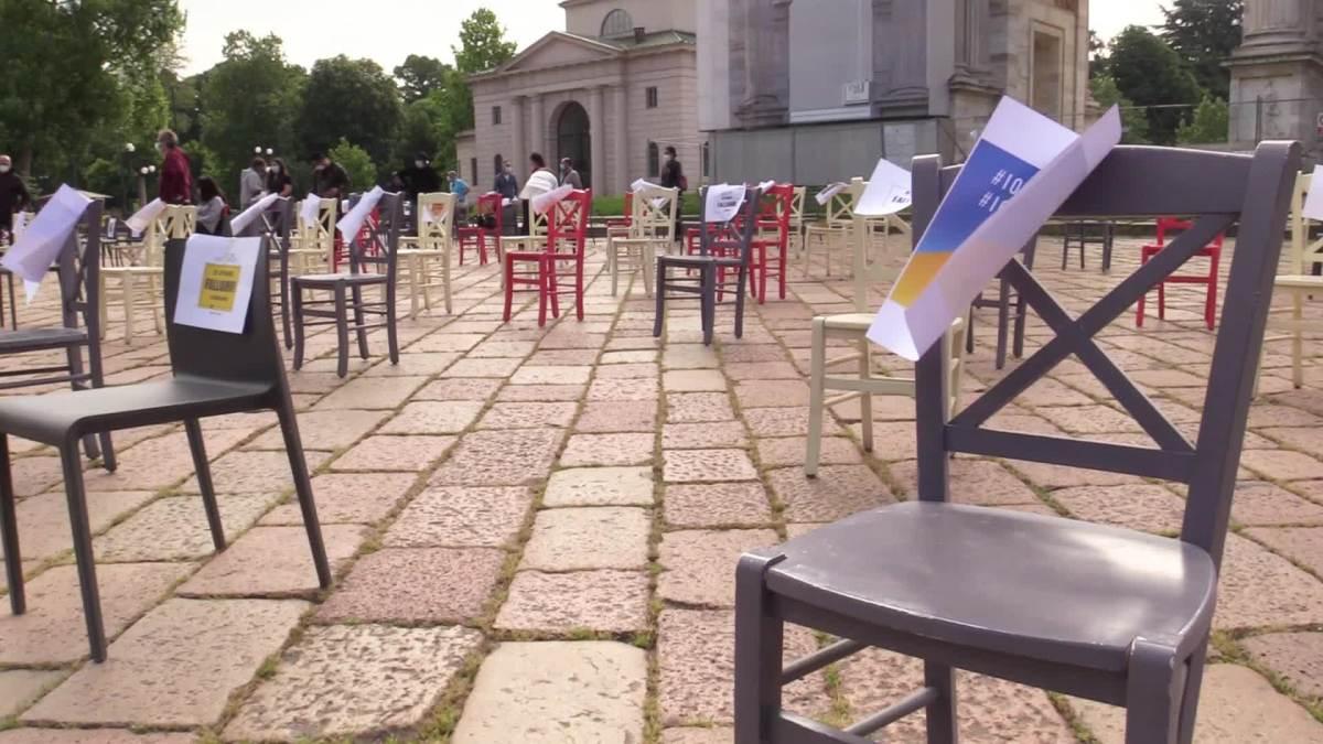 Continua la protesta all'Arco della Pace di Milano – Paolo Polli chiede regole certe e sostegno economico dalGoverno
