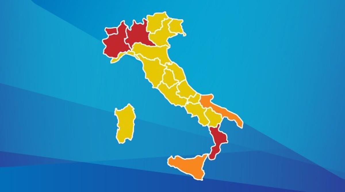 Italia divisa in tre zone di rischio. In base acosa?