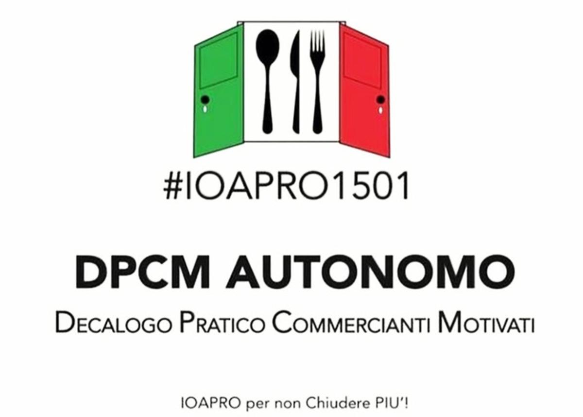 #ioapro il 15 gennaio! Un'inevitabile protesta di bar e ristoranti contro iDPCM